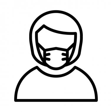 Customer Representative Wearing mask Vector Icon which can easily modify or edit icon
