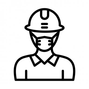Engineer Wearing mask Vector Icon which can easily modify or edit icon
