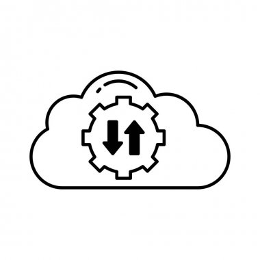 Cloud access Vector Icon which can easily modify or edit icon