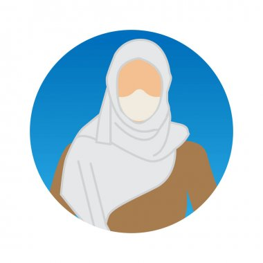 Muslim Woman Professions Avatar with Face Mask Color Vector icon which can easily modify or edit icon