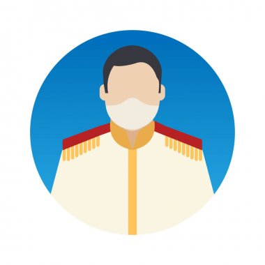 Prince Professions Avatar with Face Mask Color Vector icon which can easily modify or edit icon