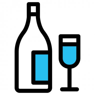 Bottle, cheers Fill vector icon which can easily modify or edit icon