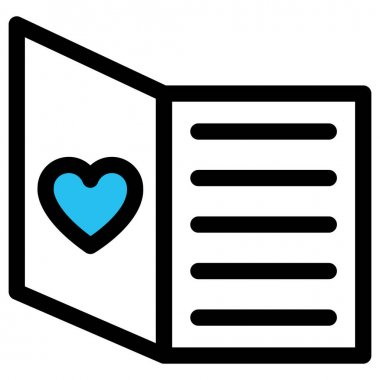 Love communication, love correspondence Fill vector icon which can easily modify or edit icon