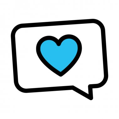 Chat bubble, love chat Fill vector icon which can easily modify or edit icon