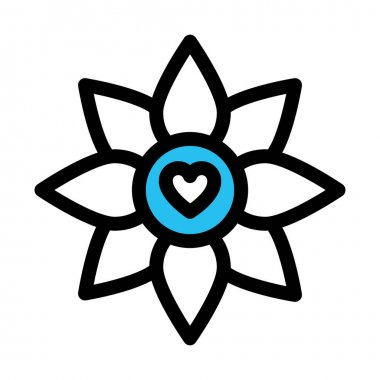 Flower, heart Fill vector icon which can easily modify or edit icon