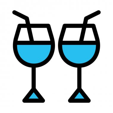Alcohol, cocktail Fill vector icon which can easily modify or edit icon