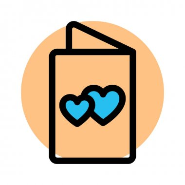 Love card, love letter Fill vector icon which can easily modify or edit icon