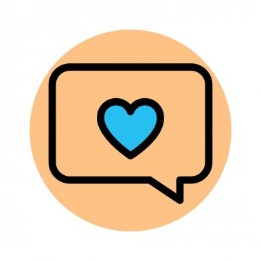 Chat bubble, love chat Fill Background vector icon which can easily modify or edit icon