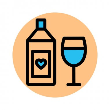 Alcohol, champagne bottle Fill Background vector icon which can easily modify or edit icon