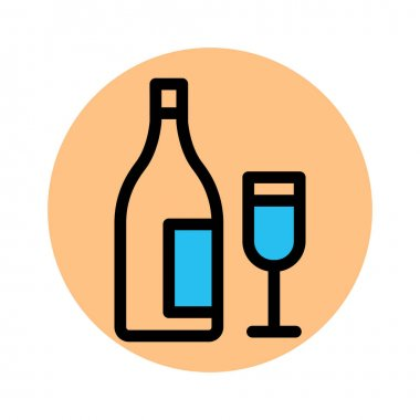 Bottle, cheers Fill Background vector icon which can easily modify or edit icon
