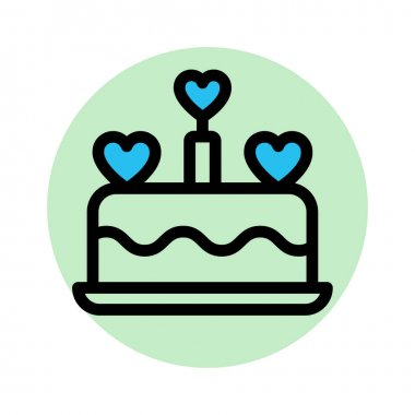 Bakery food, cake Fill Background vector icon which can easily modify or edit icon