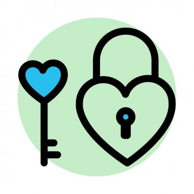 Heart lock, love inspiration Fill Background vector icon which can easily modify or edit icon
