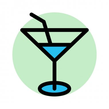 Alcohol, cocktail Fill Background vector icon which can easily modify or edit icon