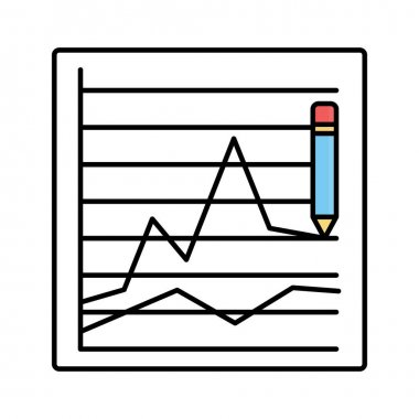 Graphing Isolated Vector icon that can be easily modified or edited icon
