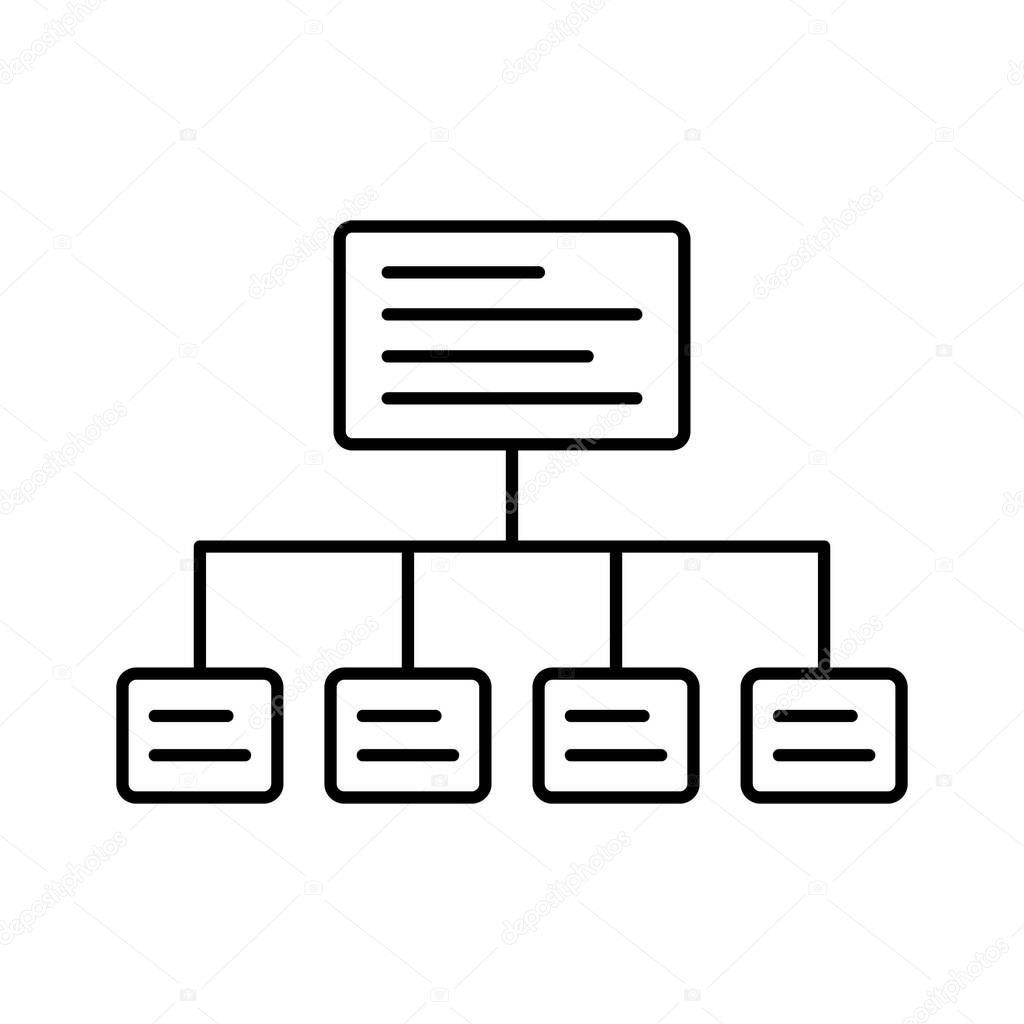 Sitemap  Isolated Vector icon that can be easily modified or edited icon