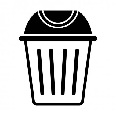 Dustbin Glyph vector icon which can easily modify or edit icon