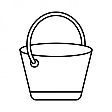 Bucket Line vector icon which can easily modify or edit icon