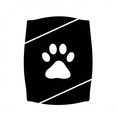 Pet food sack Isolated Vector icon which can easily modify or edit icon