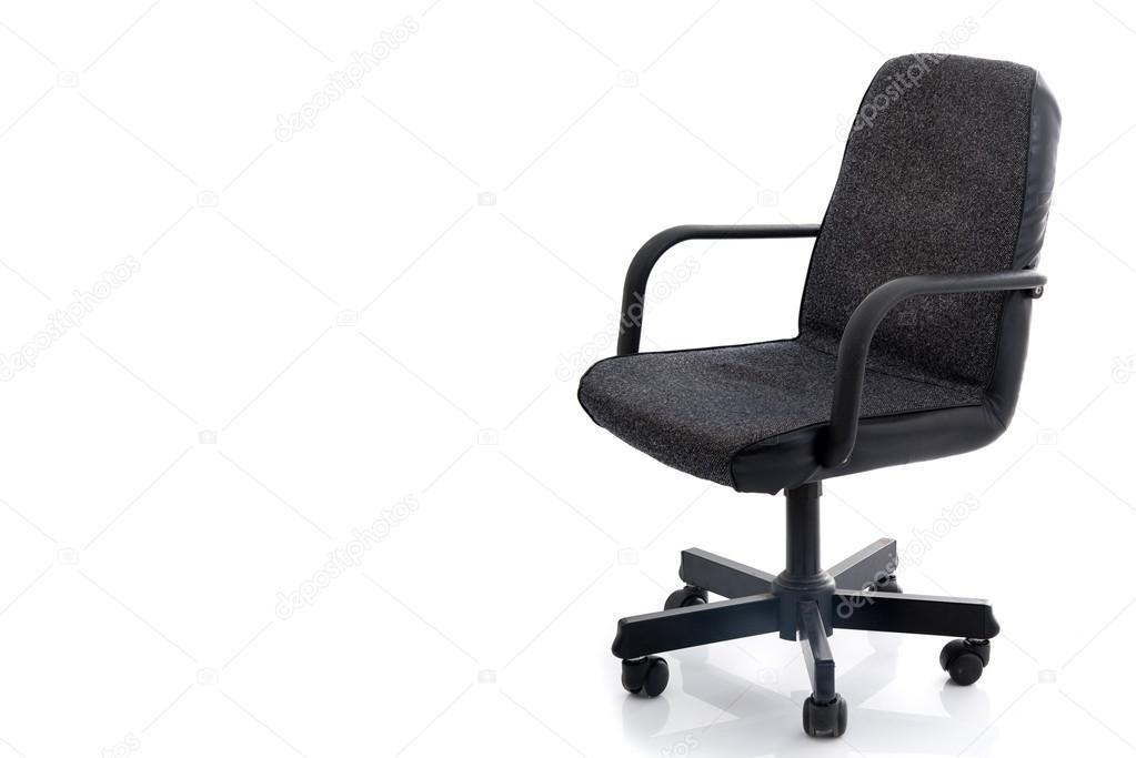 Sedie Da Ufficio In Pelle : La sedia da ufficio in pelle nera e tessuto isolato u foto stock