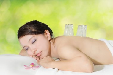 Asian beautiful woman in spa