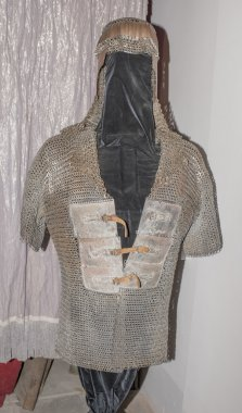 Steel armor warrior in