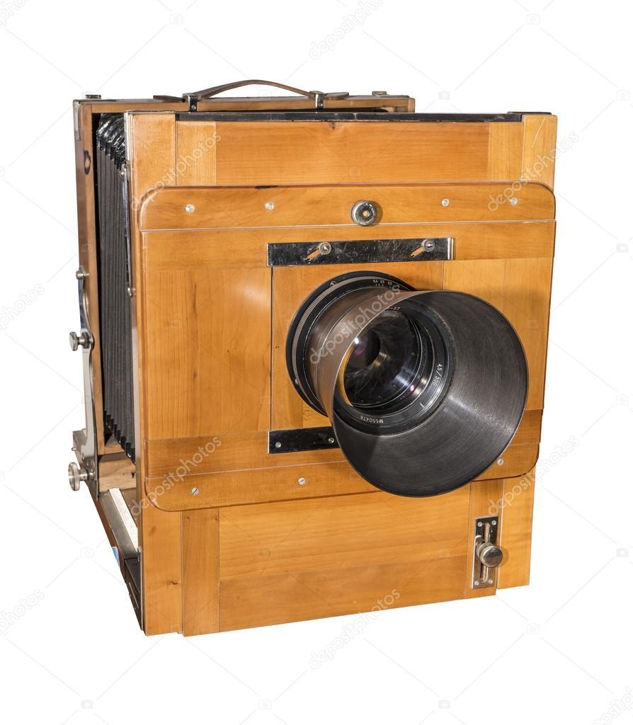 Cámara de fotos un antiguo, madera, marco de tamaño 18 x 24 cm ...