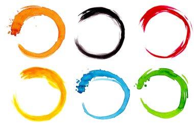 Watercolor circle design