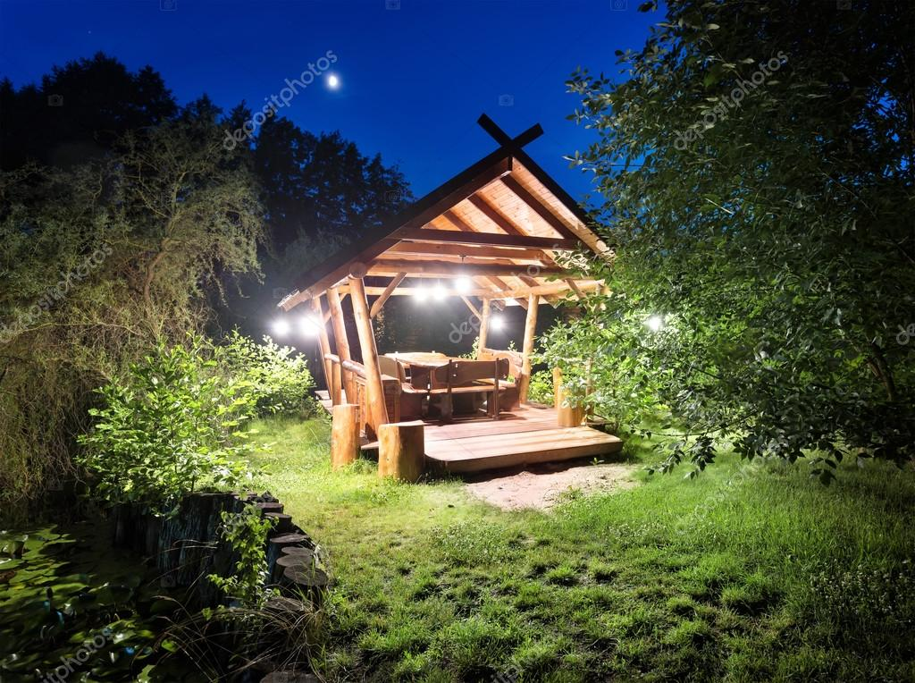 Fairy gazebo in woods