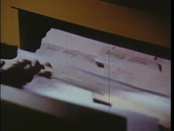 woman searching through folders