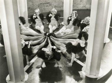 Synchronized dancers
