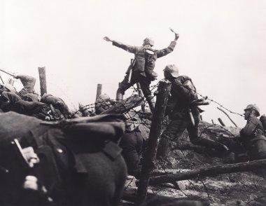 Trench warfare. soilders at war