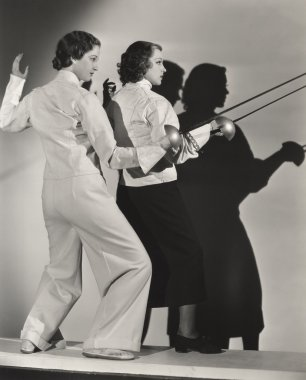 young women Fencing