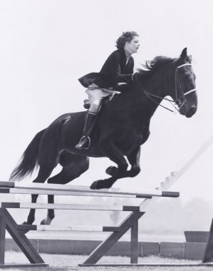woman Show jumping.