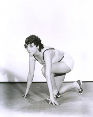 Woman in starting position