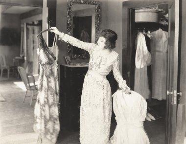 woman Choosing the perfect dress