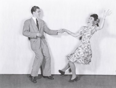young couple dancing