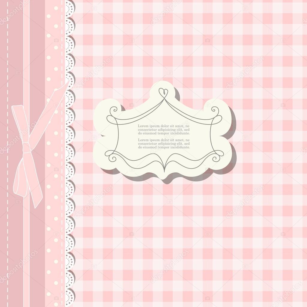 Romantische Schrott Buchung Vorlage für Einladung, Gruß, Baby-Dusche ...