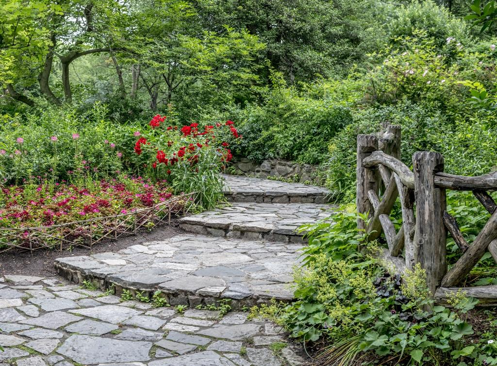 Shakespeare Garden Central Park New York City Stock Photo Johnanderson 76221729