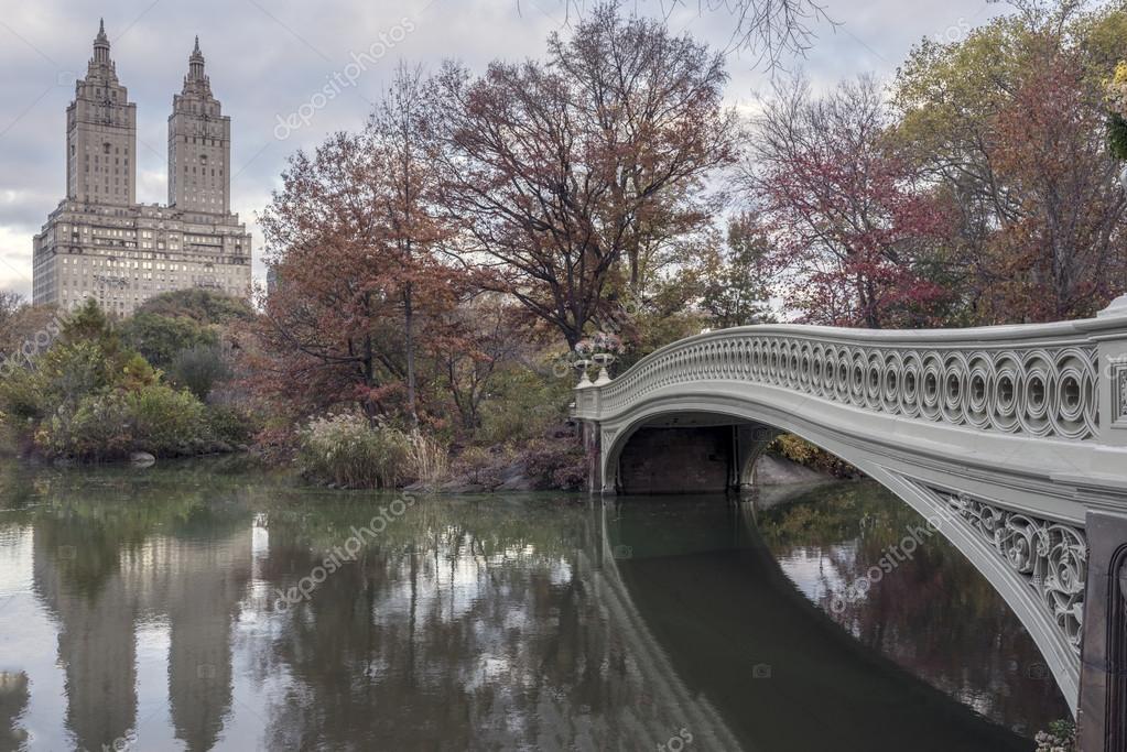 Bow bridge in late autumn