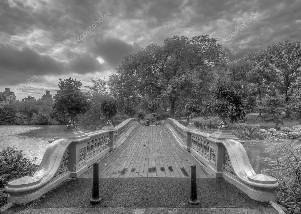 Bow bridge in summer