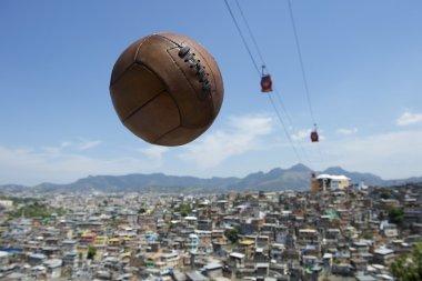 Vintage Football Soccer Ball Rio de Janeiro Brazil Favela