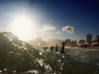Ipanema Beach Rio de Janeiro Brazil Surf Waves