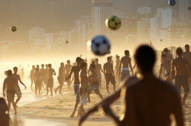 Beach Football Crowd on the Beach in Rio