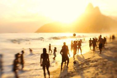 Rio Brazil Beach Football Brazilians Playing Altinho