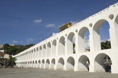 Bonde Tram Train at Arcos da Lapa Arches Rio de Janeiro Brazil