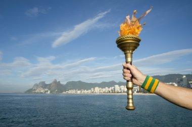 Hand Holding Torch Rio de Janeiro