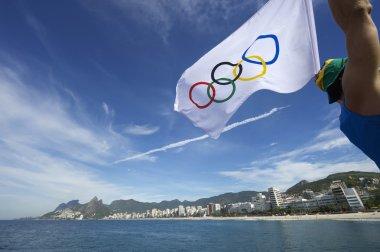 Olympic Athlete Brazilian Flag Rio de Janeiro