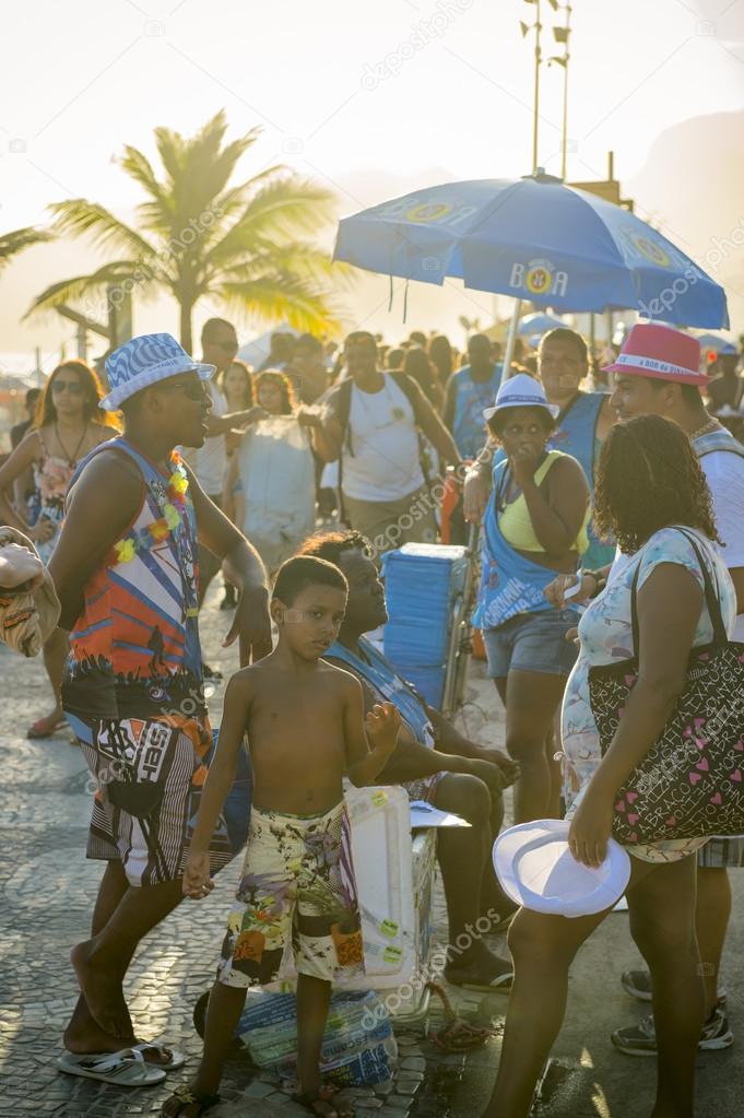 Rio de Janeiro Sunset Carnival Crowd