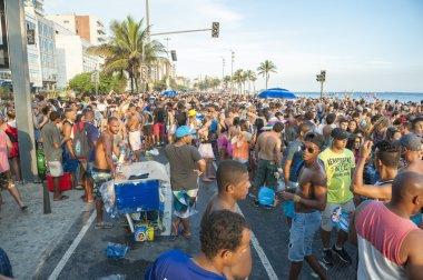 Brazilians Celebrating Carnival Ipanema Rio de Janeiro Brazil