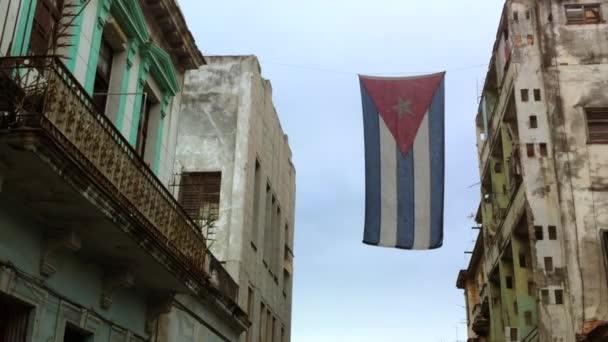 Cuban Flag Hanging in Havana Cuba